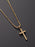 SMALL GOLD CROSS NECKLACE FOR MEN