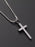 SMALL STAINLESS STEEL CROSS NECKLACE FOR MEN