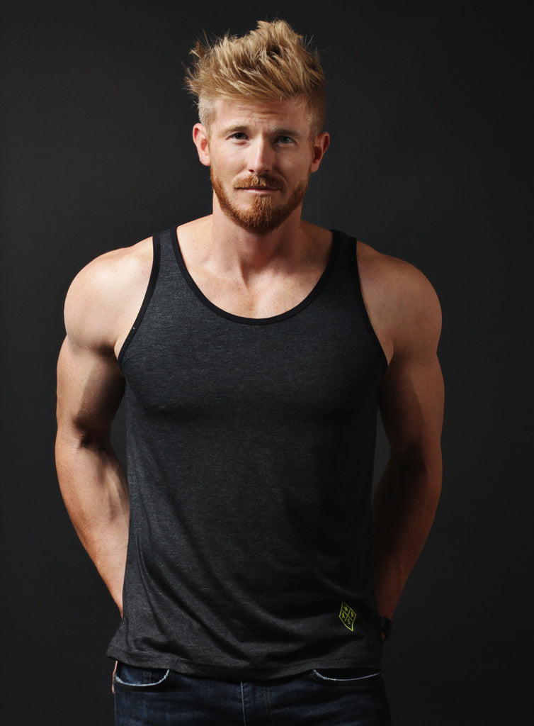 WAAS Basics. Charcoal gray tank top