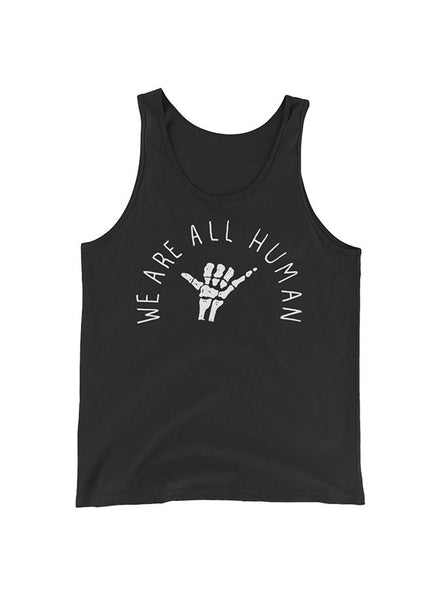 """We Are All Human"" Black  Tank Top"