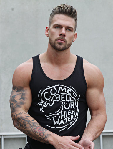 """Come Hell or High Water"" Black Tank Top"