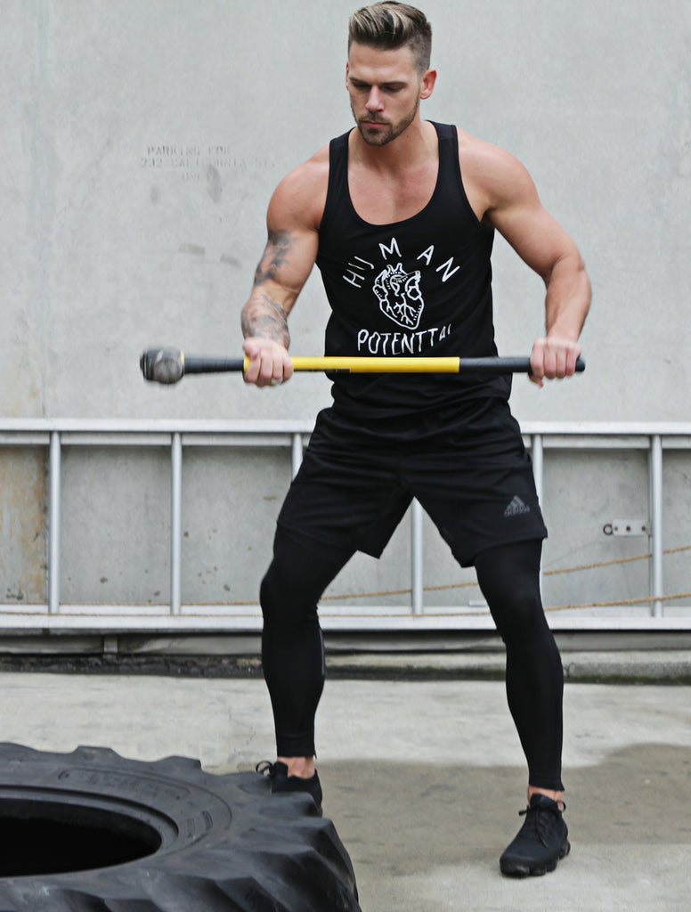 """Human Potential"" Black Tank Top"