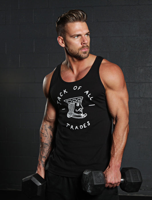 """Jack of all trades"" Black Tank Top"