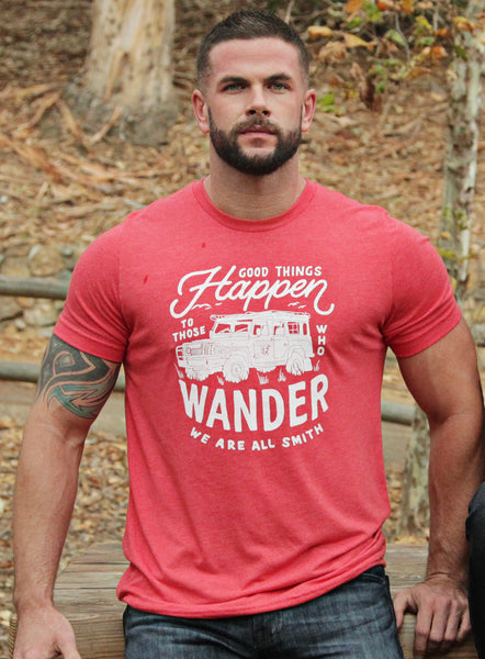 """Good Things Happen To Those Who Wander"" Red Men's T-shirt"