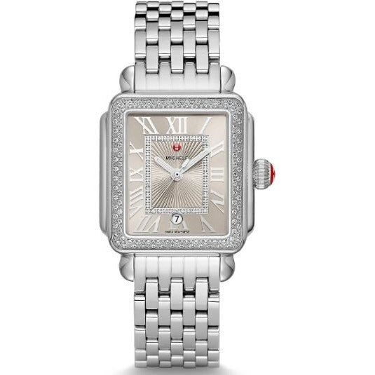 Michele Deco Madison Stainless Steel Diamond