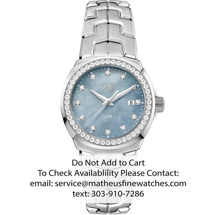 TAG Heuer Diamond Blue Mother of Pearl Ladies Link Quartz Watch