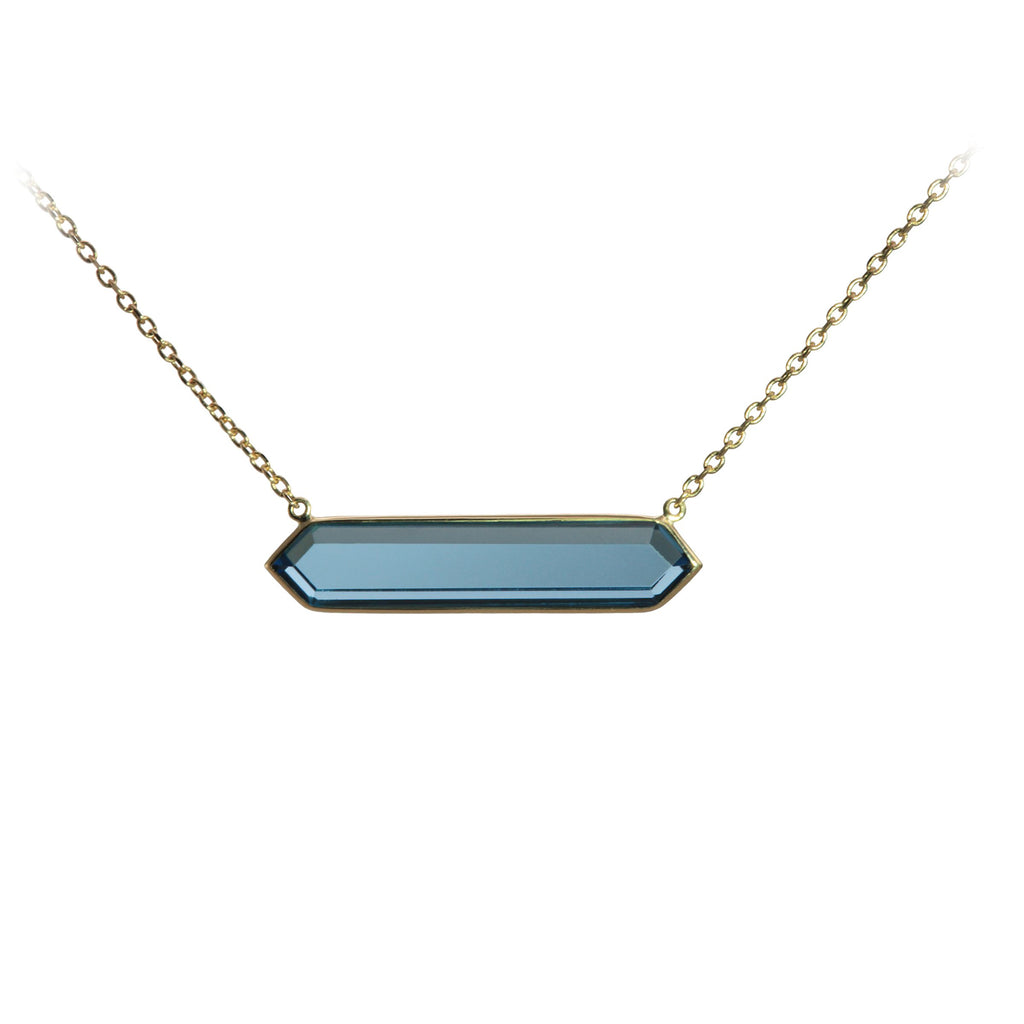 Olivia B London Blue Topaz Necklace