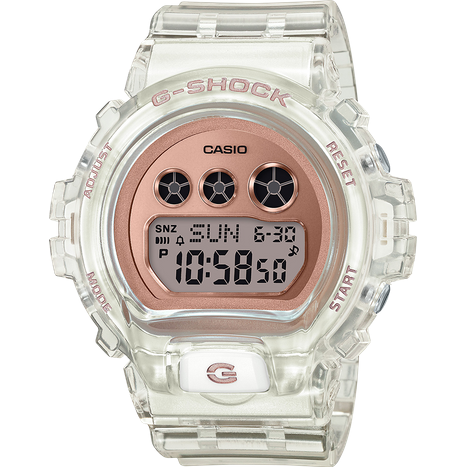 CASIO G-SHOCK CLEAR/ROSE GOLD WATCH GMAS6900SR-7