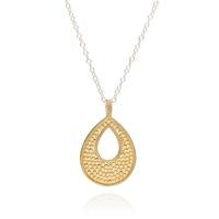 Anna Beck Larger open drop Crescent pendant Necklace- reversible