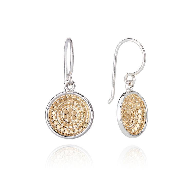 Anna Beck Dotted Dish Drop Earrings
