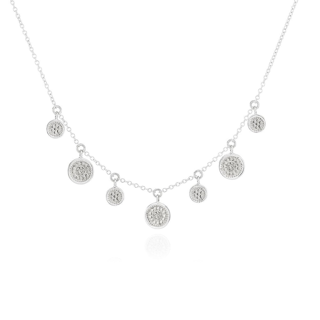 Anna Beck Mini Disc Charm Necklace SILVER