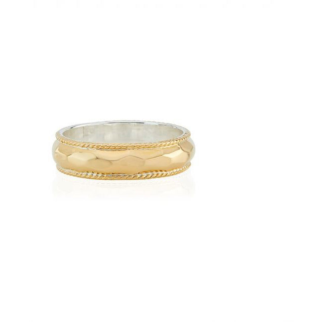 ANNA BECK CLASSIC HAMMERED RING GOLD