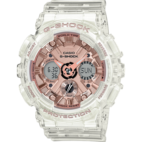 CASIO G-SHOCK GMAS120SR-7A CLEAR/ROSE GOLD