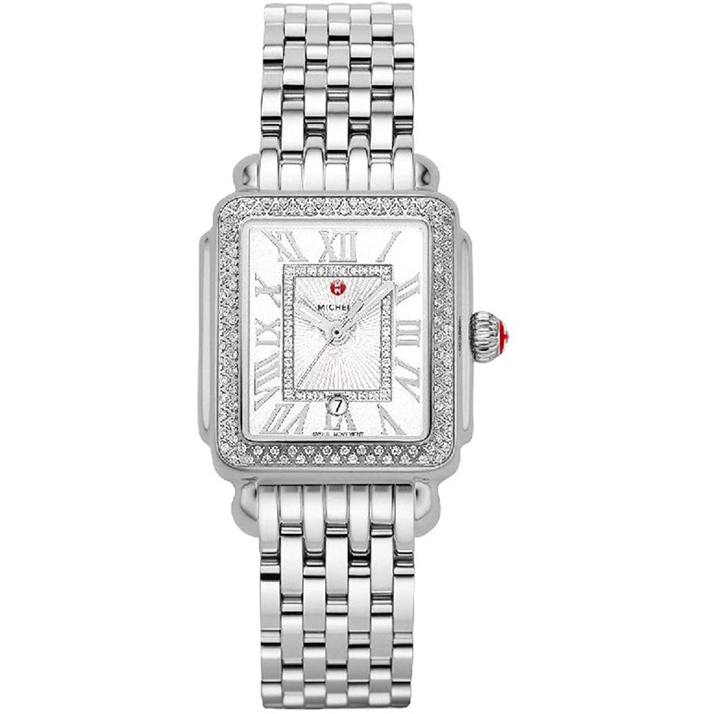 Michele Deco Madison Mid Stainless Steel Diamond