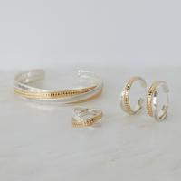 ANNA BECK MIXED METAL TWISTED CUFF  GOLD & SILVER