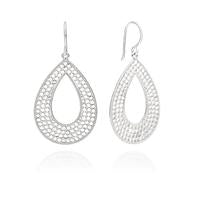 ANNA BECK LARGE OPEN DROP SILVER HOOPS