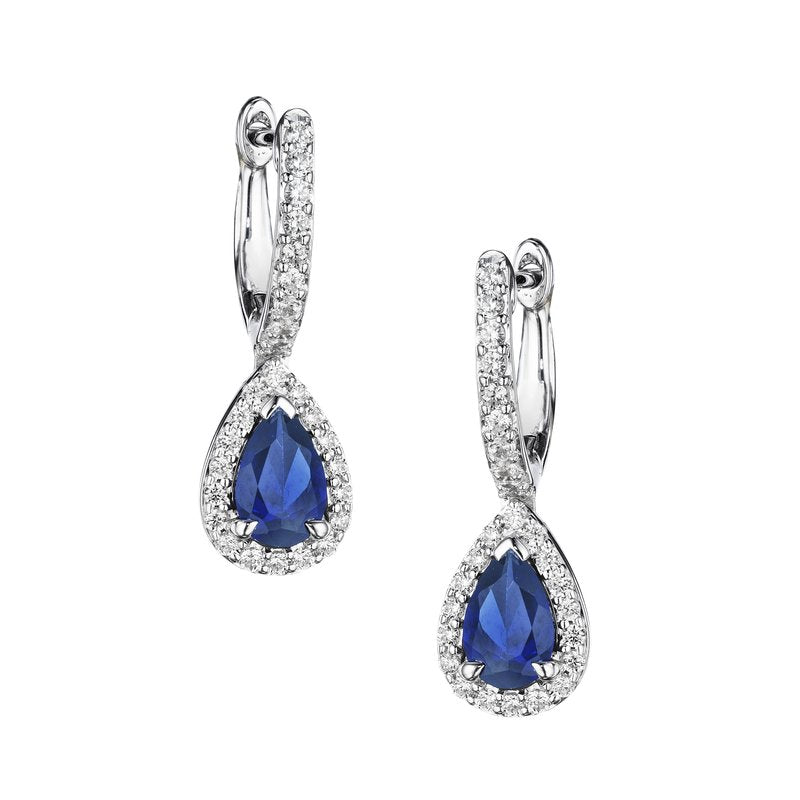 Fana Sapphire and Diamond Drop Earrings