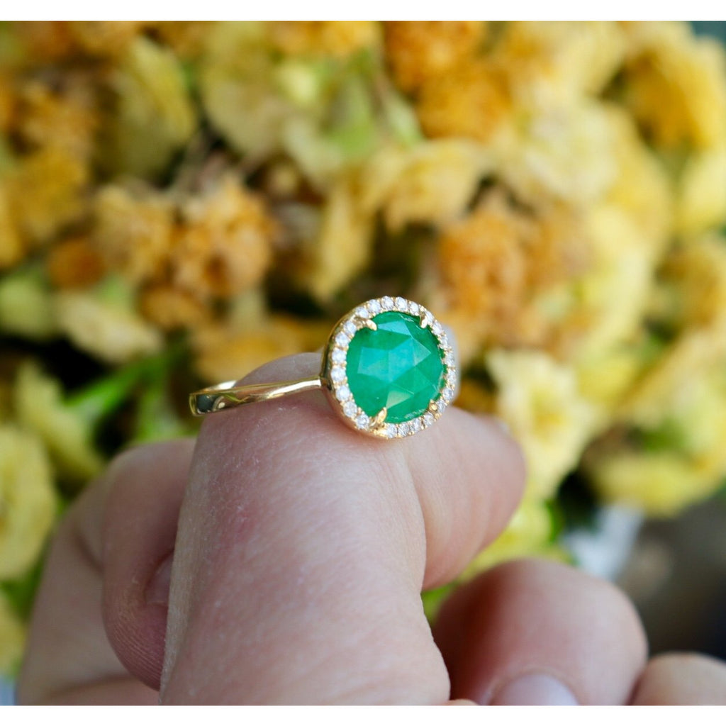 Royal Jewelry Emerald Diamond Ring