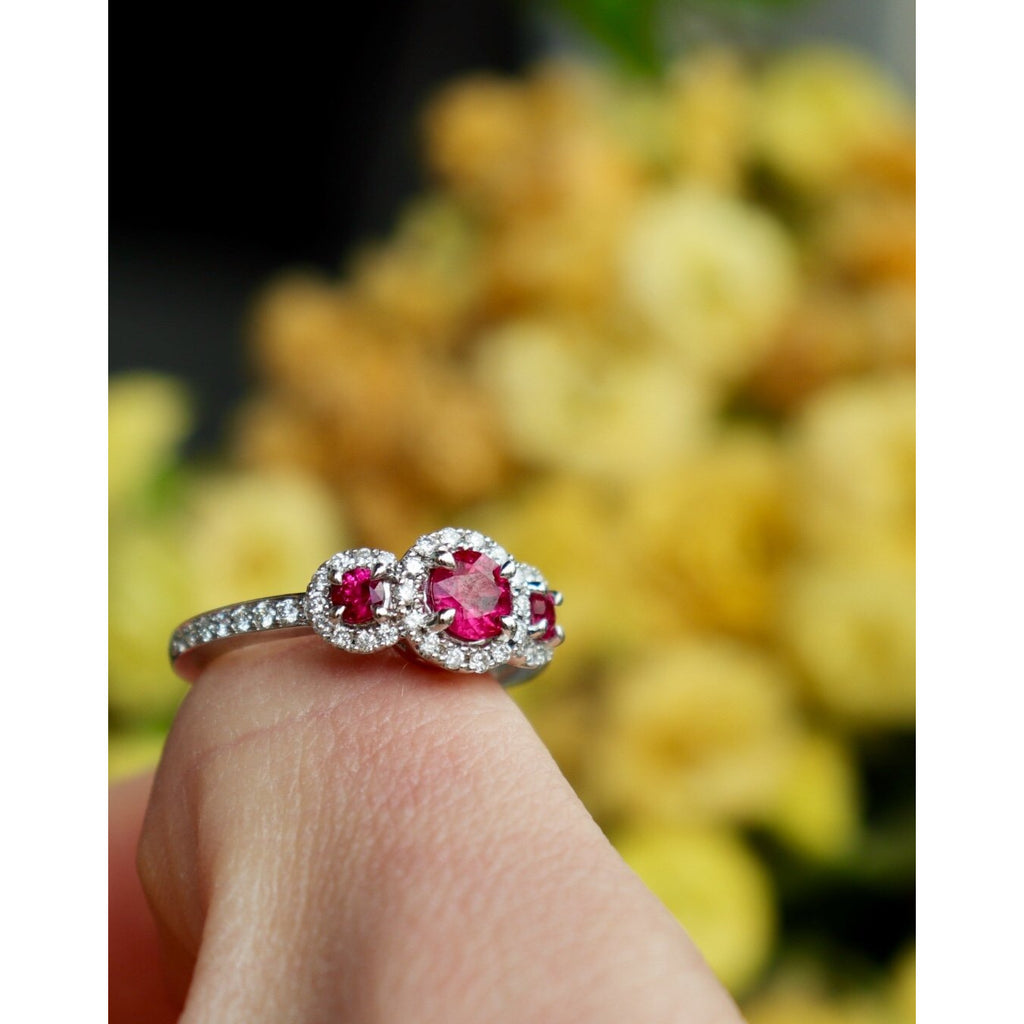 Fana Ruby and Diamond Ring