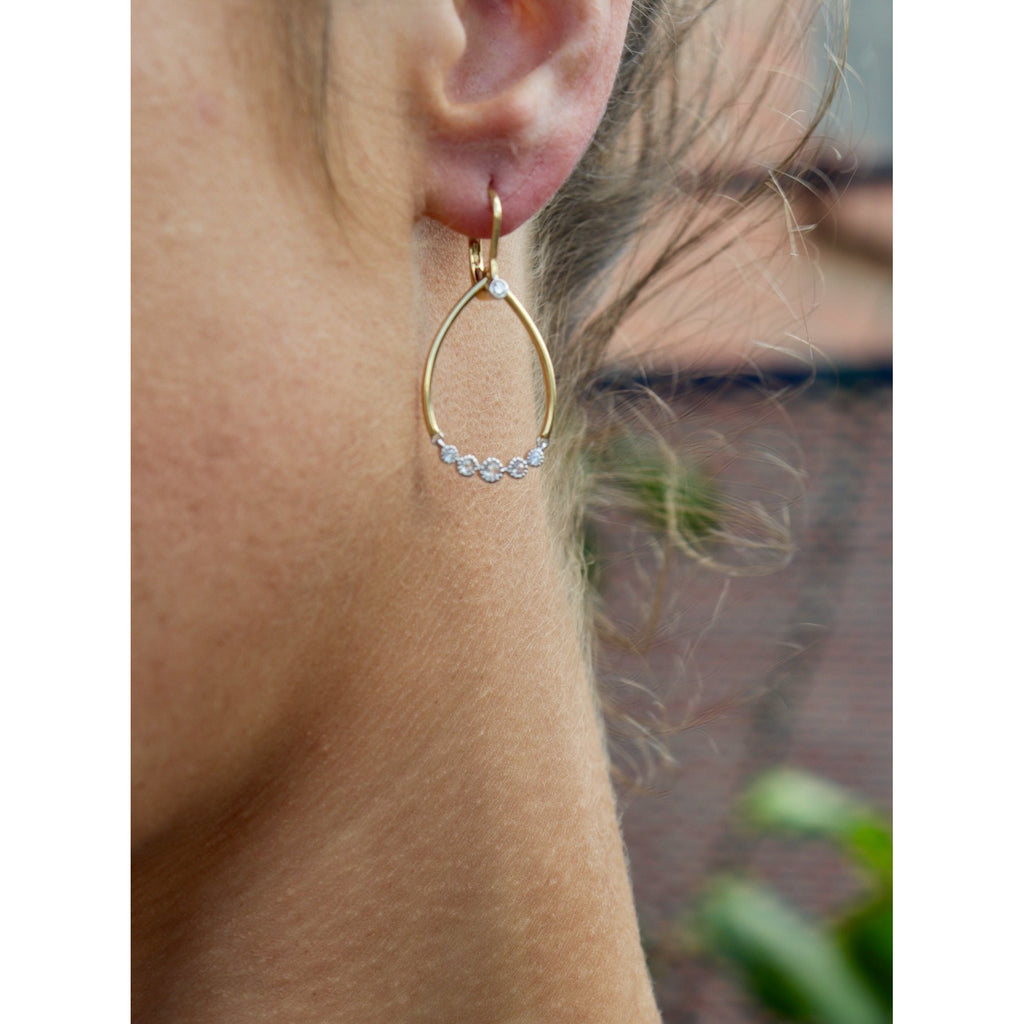 Cherie Dori Diamond Drop Earrings