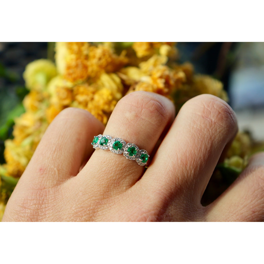 Fana Emerald and Diamond Band Ring