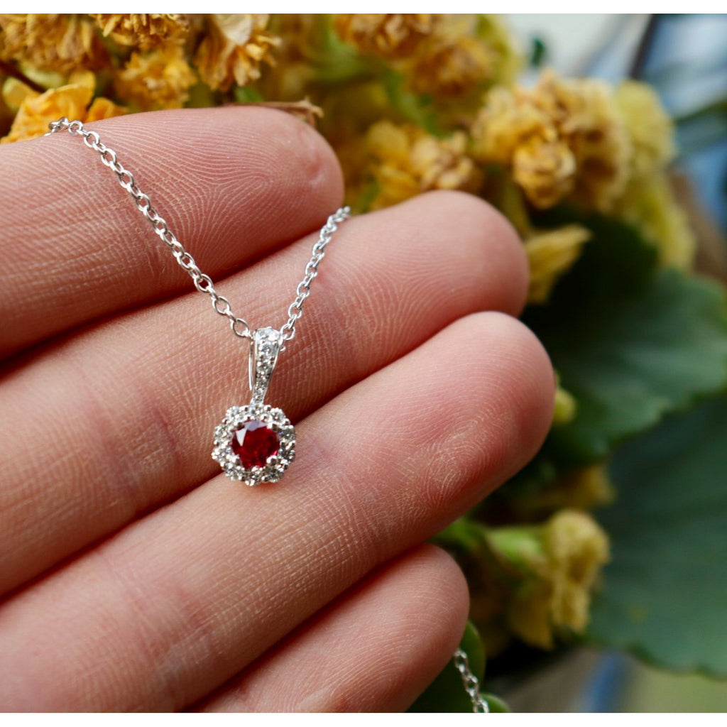 Fana Ruby Diamond Drop Pendant