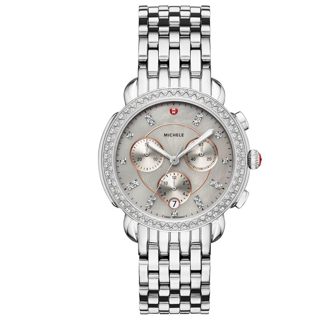 Michele Sidney Stainless Steel Diamond