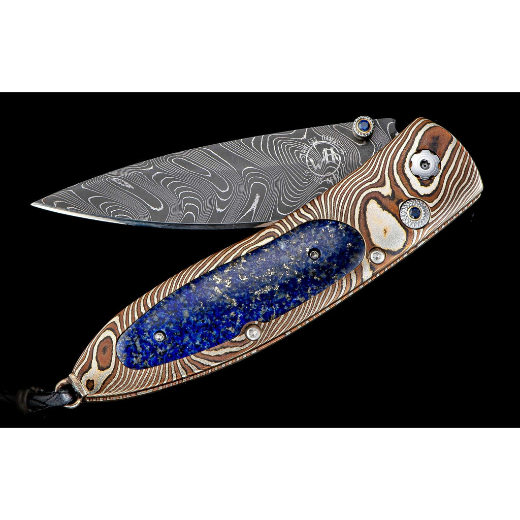 William Henry Monarch Blue & Gold Pocket Knife