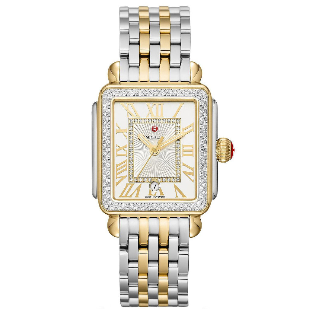 Michele Deco Madison Diamond Two-Tone, Diamond Dial