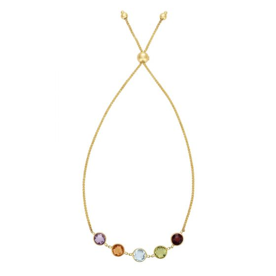 Royal Chain Group Multi-Gemstone Gold Friendship Bracelet