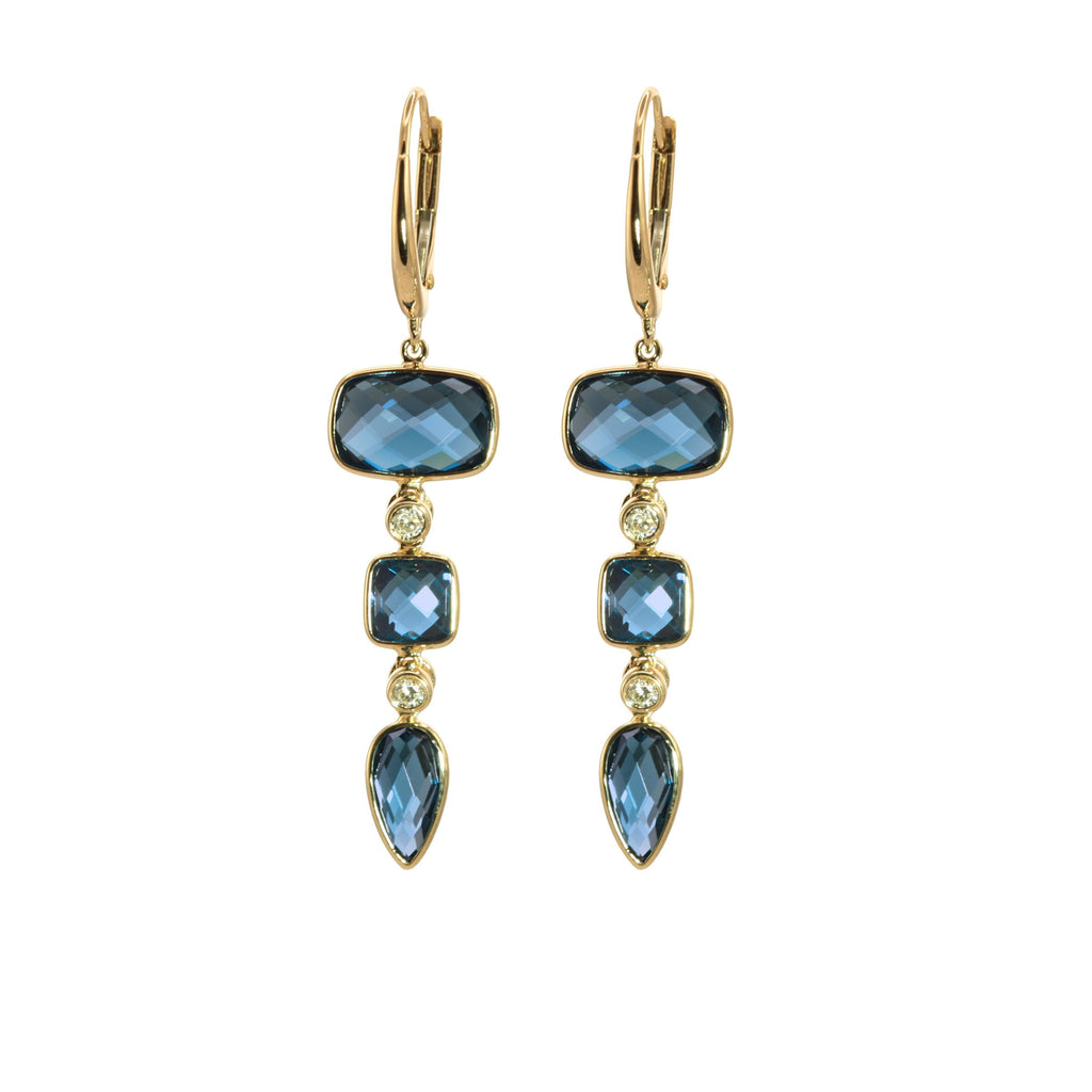 Olivia B London Blue Topaz Drop Earrings