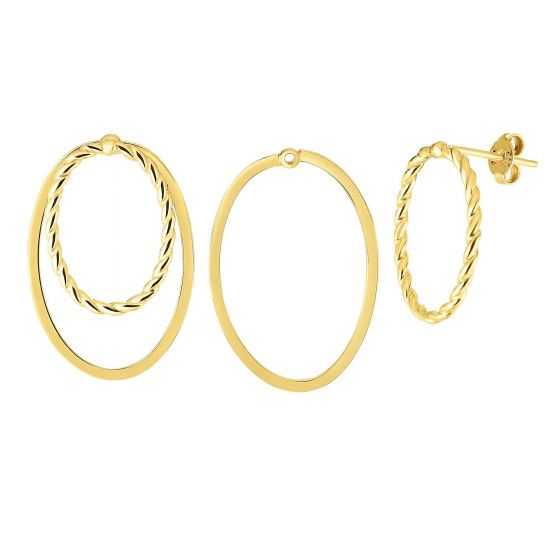 Royal Chain Group Gold Multi-Wear Earrings