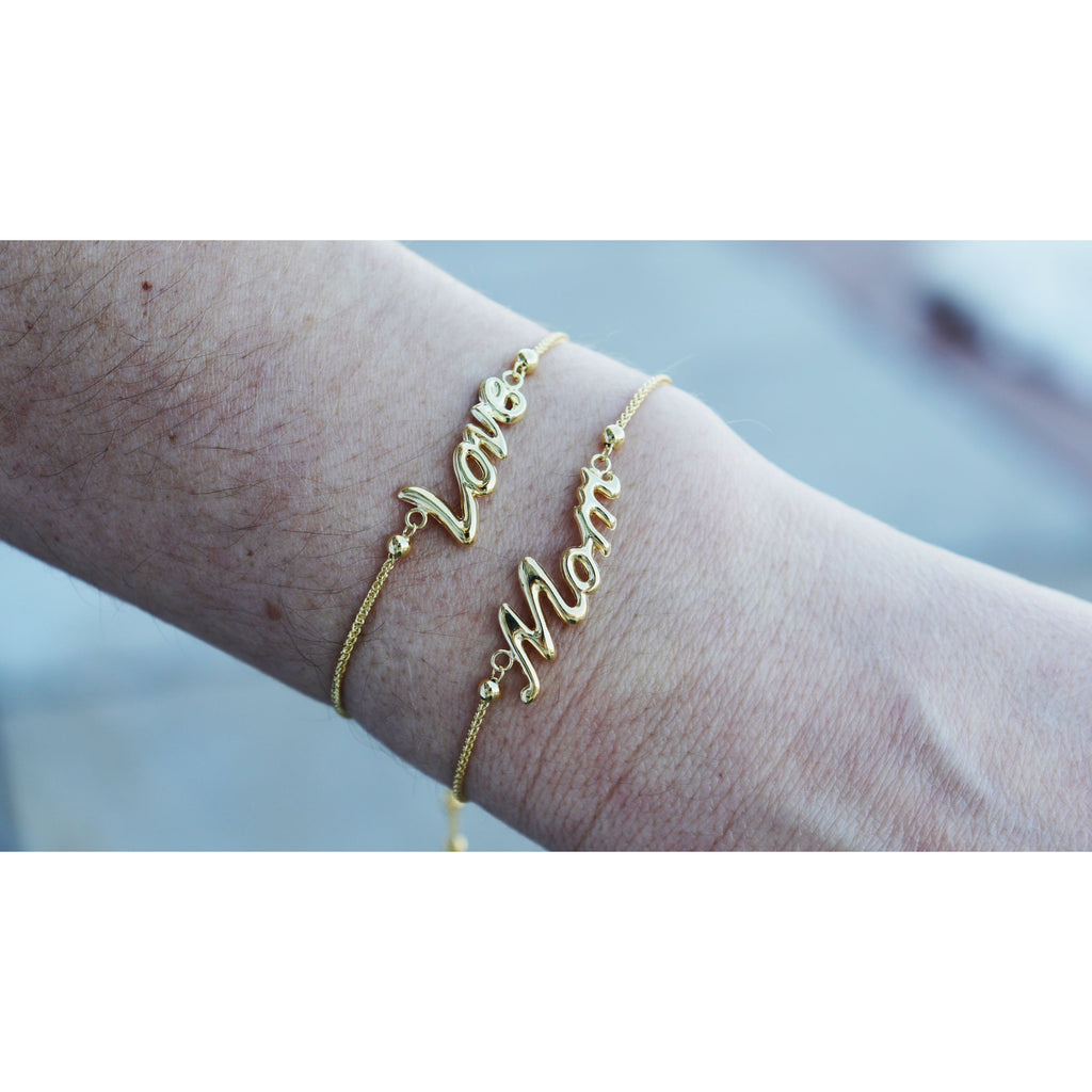 Gold Mom Friendship Bracelet