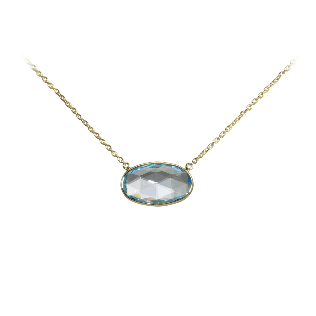 Olivia B Blue Topaz Necklace