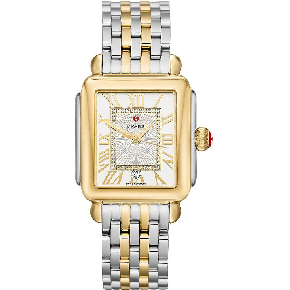 Michele Deco Madison Two-Tone, Diamond Dial