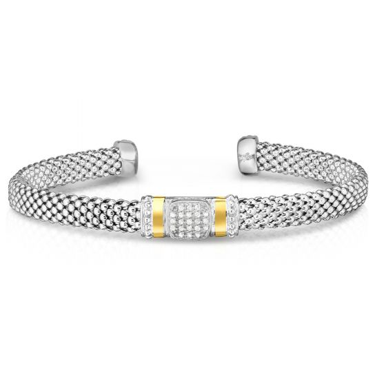 Phillip Gavriel White Diamond Popcorn Bangle