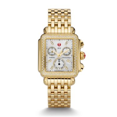 Michele Signature Deco Two-Tone Diamond