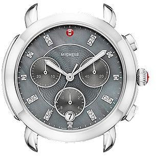 Michele Sidney Light Grey Diamond Dial