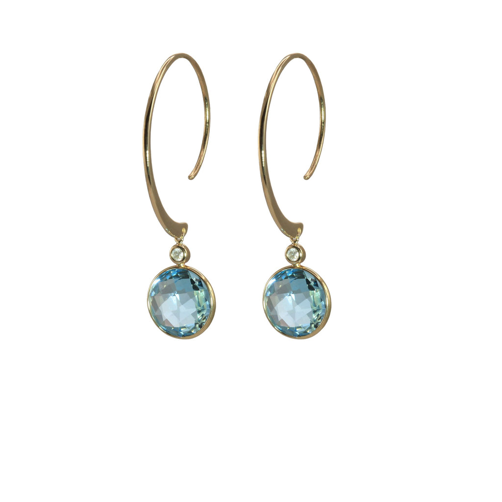 Olivia B Blue Topaz Earrings