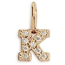 Diamond Block Letter Charm by Zoe Chicco