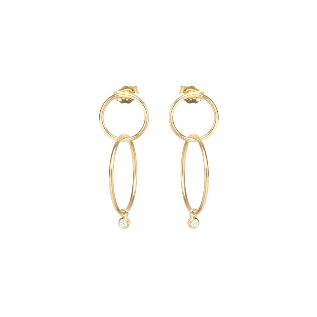 Zoe Chicco Double Hoop Drop Earrings