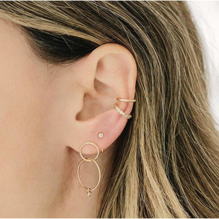 Double Hoop Drop Earrings