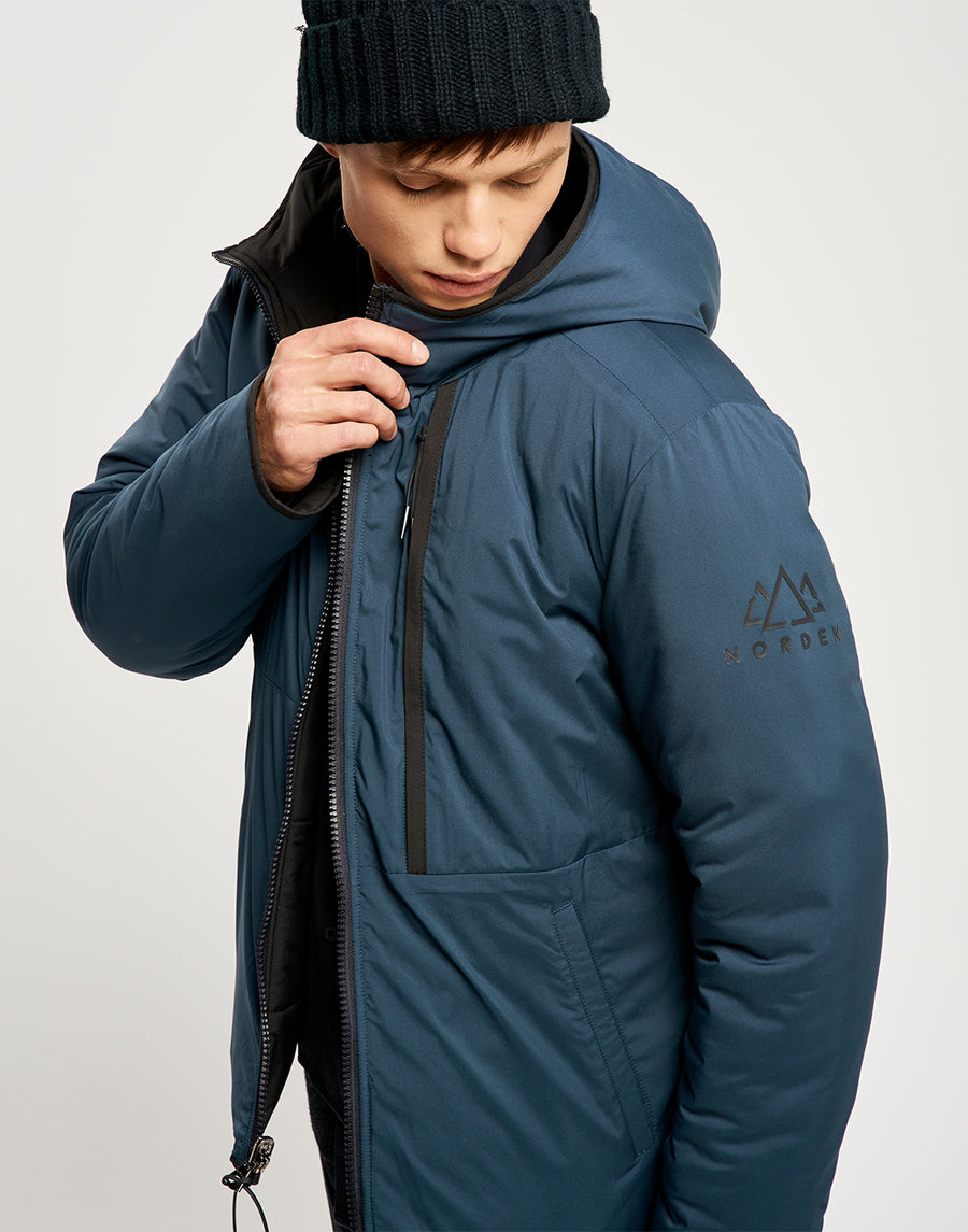 Jensen Reversible Jacket - Black and Navy
