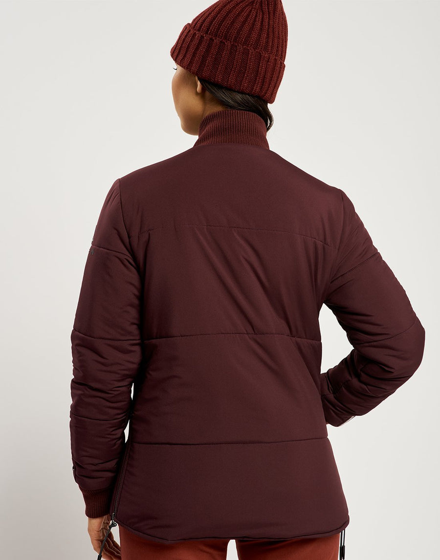 Malin Reversible Light Jacket - Charcoal and Burgundy