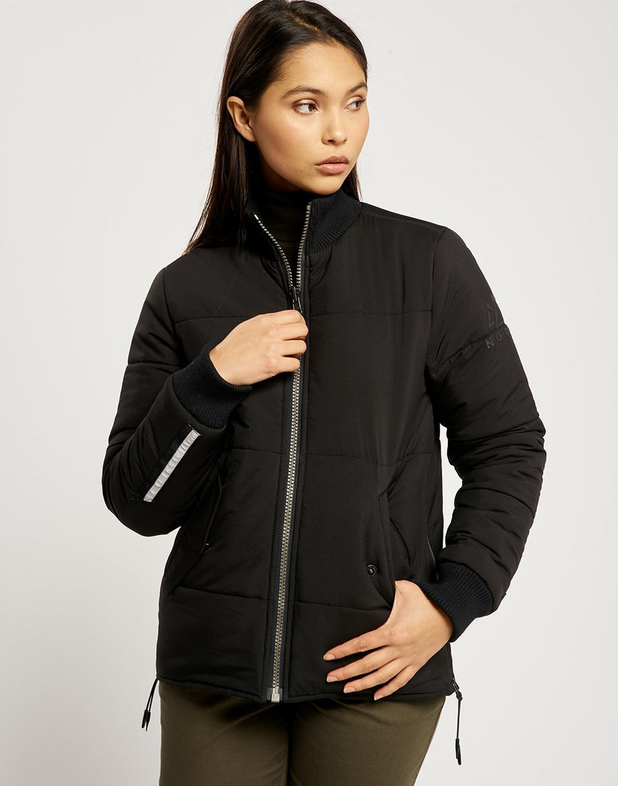 Malin Reversible Light Jacket - Black and Khaki