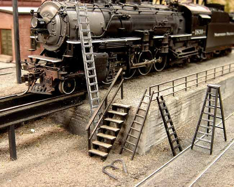 Steps & Ladders - HO Scale Kit