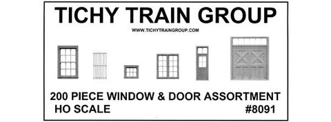 WINDOW DOOR & PARTS ASSORTMENT 1 - HO Scale