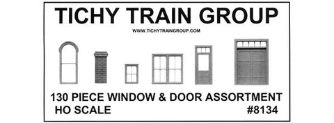 WINDOW DOOR & PARTS ASSORTMENT II - HO Scale