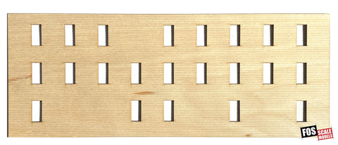 CLAPBOARD WALL SECTION - B208 HO SCALE