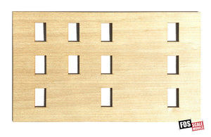 CLAPBOARD WALL SECTION - C103 HO SCALE
